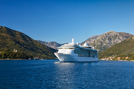 Cruise ship in the Bay of Kotor, Montenegro