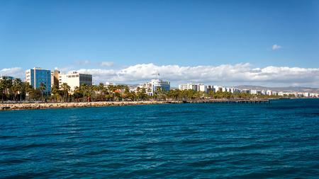 Coast line of Limassol, Cyprus Stock Photo