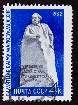 sociologist: USSR - CIRCA 1962: The postal stamp printed in the USSR which shows Karl Marks, CIRCA 1962.