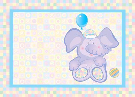 Card for kid, vector illustration. Vector
