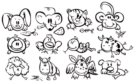 male pig: Cute animals, funny horoscope.