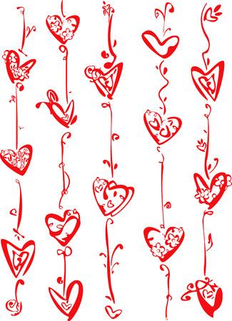linee vettoriali: Il giorno di San Valentino, sfondo.