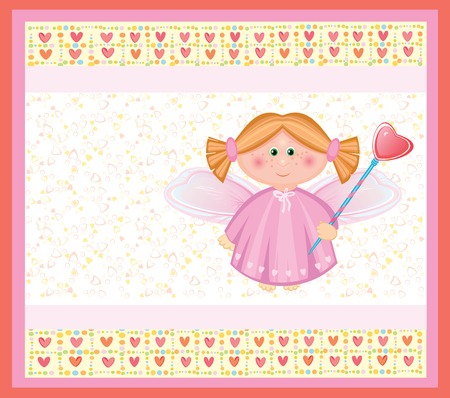 Card with angel. Vector