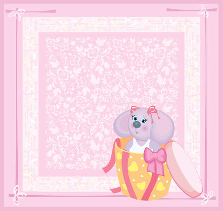 Card for baby. Vector