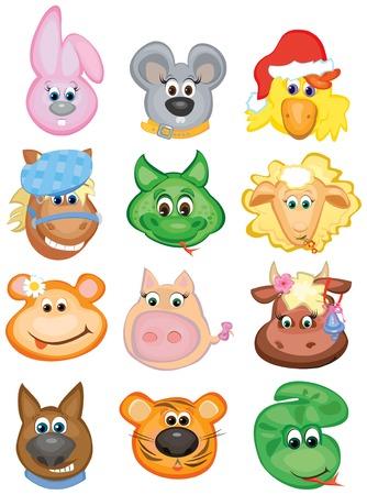 Cute animals, funny horoscope. Stock Vector - 4138006