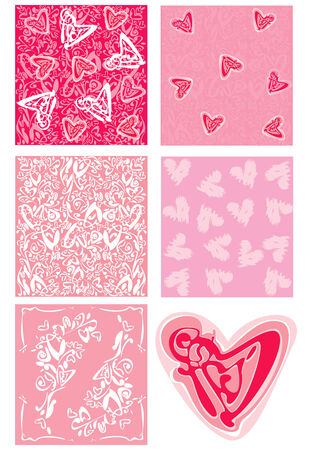 Vector love backgrounds and element. Vector