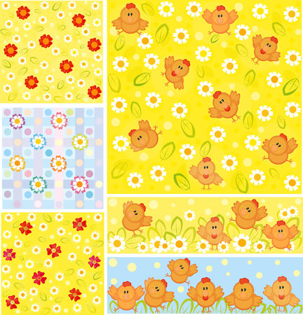 Easter backgrounds. Stock Vector - 4144669