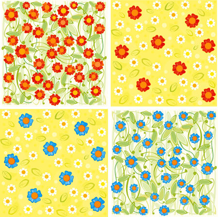 Floral backgrounds. Vector