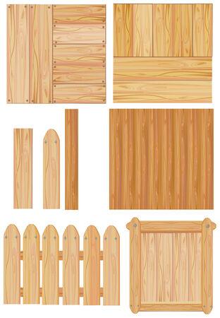 set of wooden sign, vector