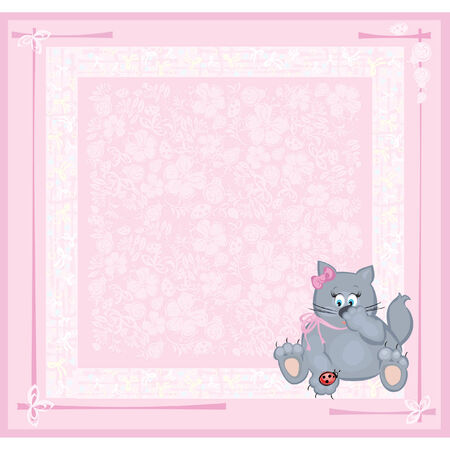 Card for baby girl. Stock Vector - 4221858