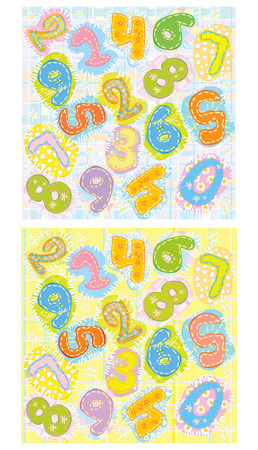 Numbers backgrounds. Vector
