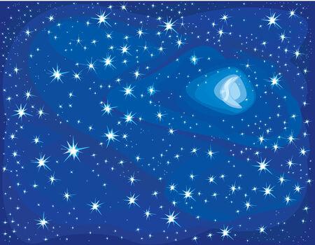 Starry night. Vector