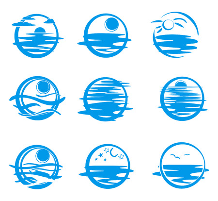 Icons of sea. Stock Vector - 4221854