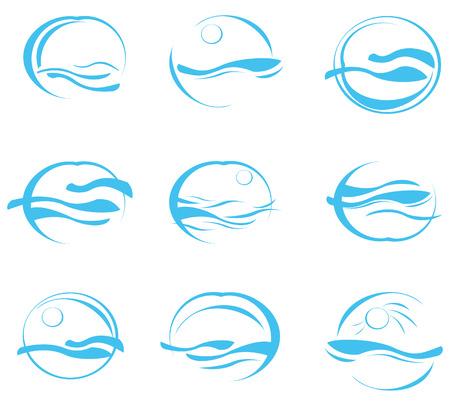 reflejo en el agua: Iconos de mar.