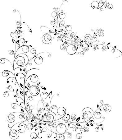 free vector: Floral patterns.