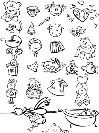 Baby set. Illustration