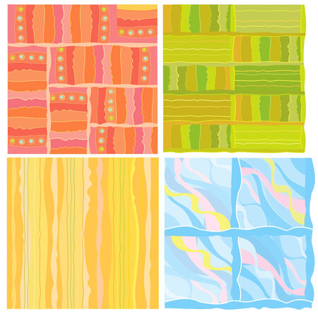 Four of abstract backgrounds. Vector