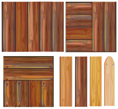 set of wooden sign, vector Vector