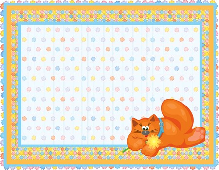 Card for baby. Stock Vector - 4493499