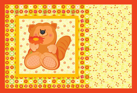 Cute card for baby. Vector