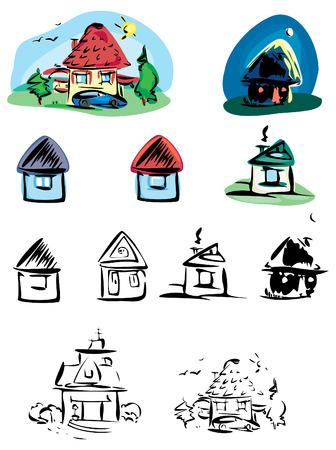 Vector of houses. Vector