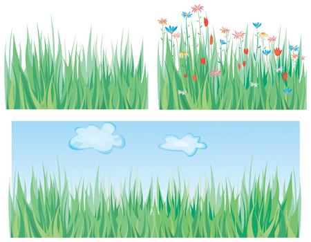 Green grass pattern Stock Vector - 4552404