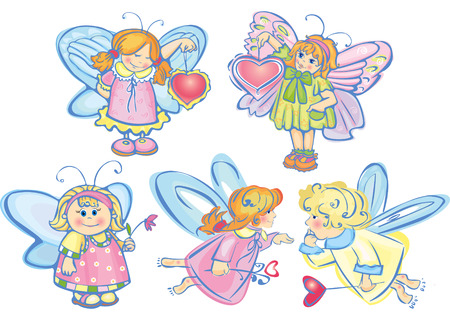 Little angels. Vector