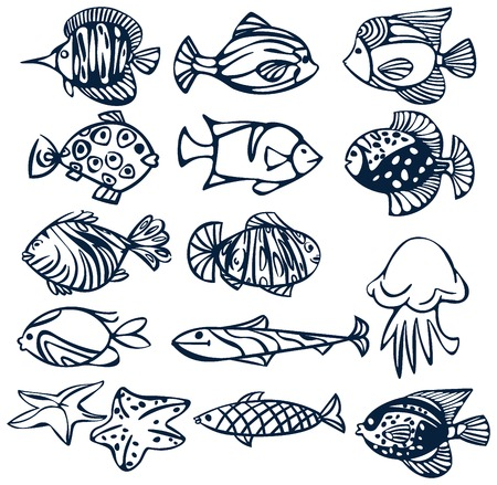 Set of fishes. Stock Vector - 4631897