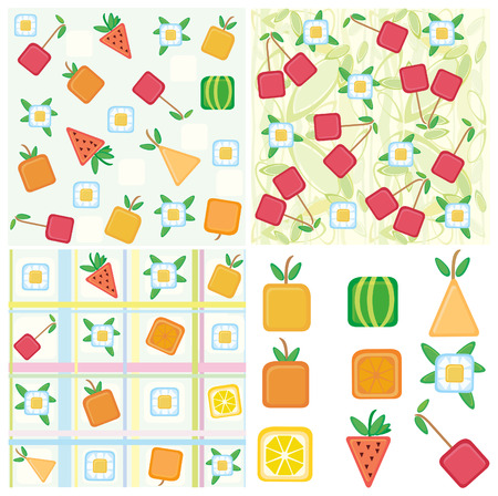 Fruit backgrounds and elements for design. Stock Vector - 4809323