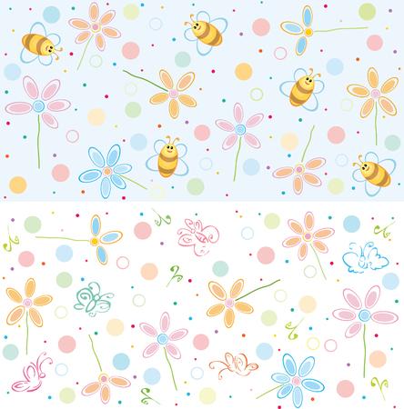 Cute Muster für Ihr Design. Vektorgrafik
