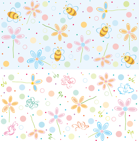 Cute patterns for your design. Vector