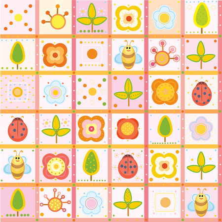 flore: Cute pattern  for your design. Illustration