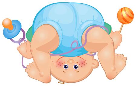Funny baby boy Stock Vector - 5472376
