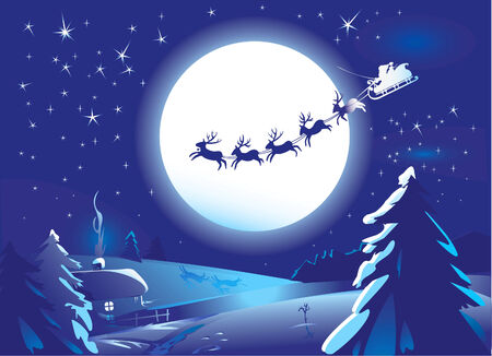 Santa Claus Sleigh Stock Vector - 5686514
