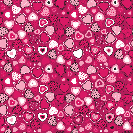 Vector seamless, heart pattern for your design  Vector