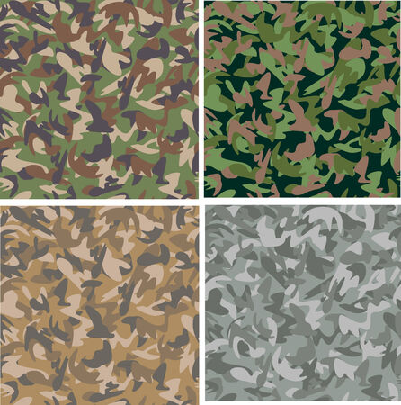 Seamless camouflage patterns  Vector