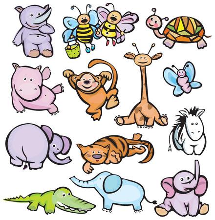 jacar�: Os animais bonitos Ilustra��o