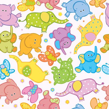 Animales lindos transparentes Ilustración de vector