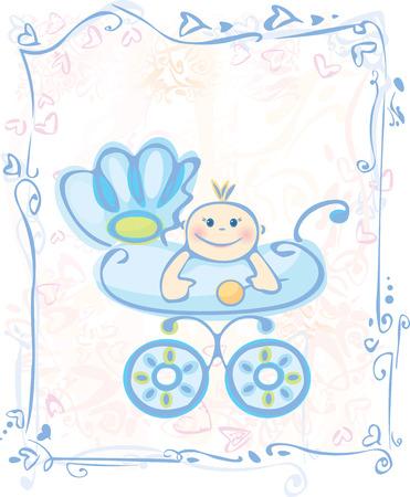 Cute card for baby boy.