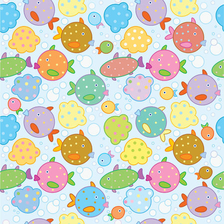 Seamless fish background. Stock Vector - 7369814