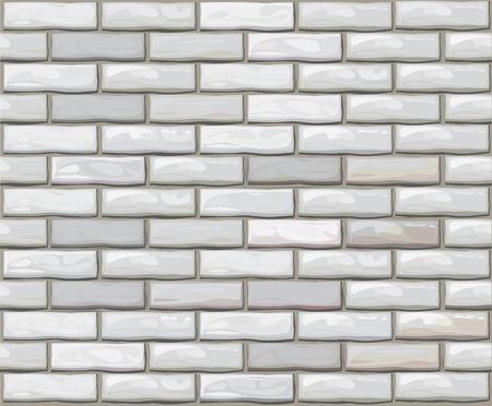 brickwall: Pared de ladrillo transparente de vector hechas de ladrillos blancos.  Vectores