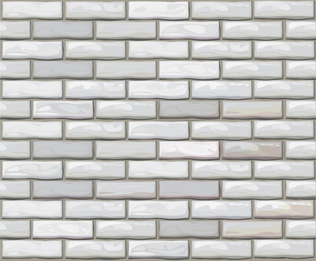 Vector seamless brick wall made of white bricks. Vector
