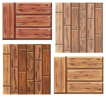 laminate flooring: wooden elements Illustration