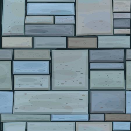 stone mason: Vector seamless stones wall.