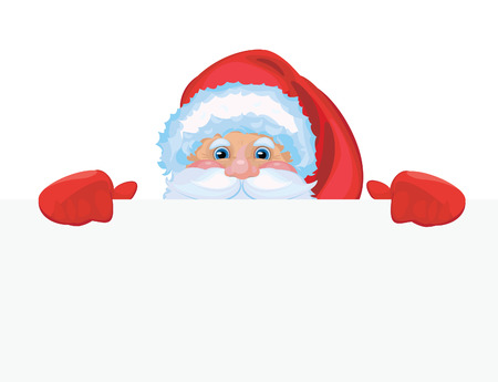 klaus: Santa stays by blank with place for your text