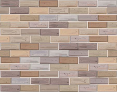 seamless brick wall made of light bricks different colors. Vector
