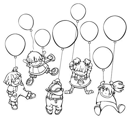 Happy kids. Stock Vector - 8589039