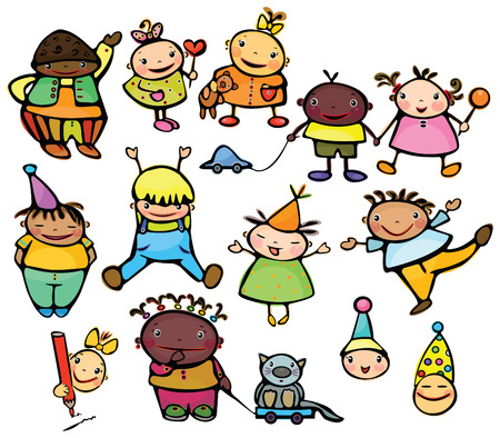 Happy kids. Vector