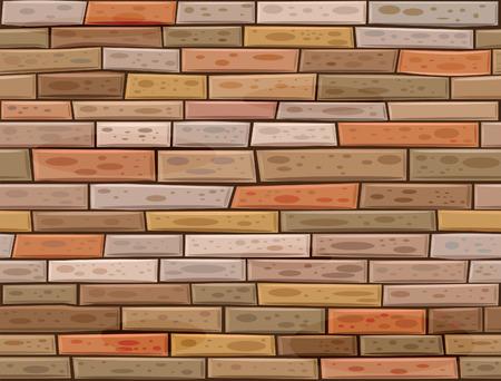 brickwall: un muro de ladrillo sin problemas hechos de ladrillos marr�n diferentes colores.  Vectores