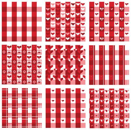 Colores de patrón, rojo transparente de San Valentín  Ilustración de vector